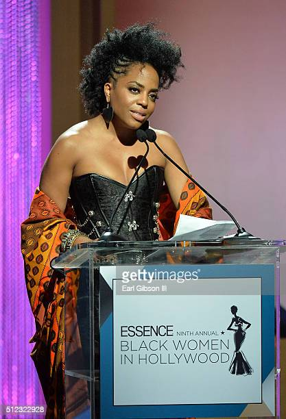 Actress Rhonda Ross Kendrick speaks onstage during the 2016 ESSENCE Black Women In Hollywood awards luncheon at the Beverly Wilshire Four Seasons...