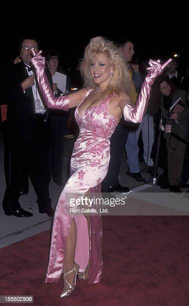 Actress Rhonda Shear attends 10th Annual American Comedy Awards on February 11 1996 at the Shrine Auditorium in Los Angeles California