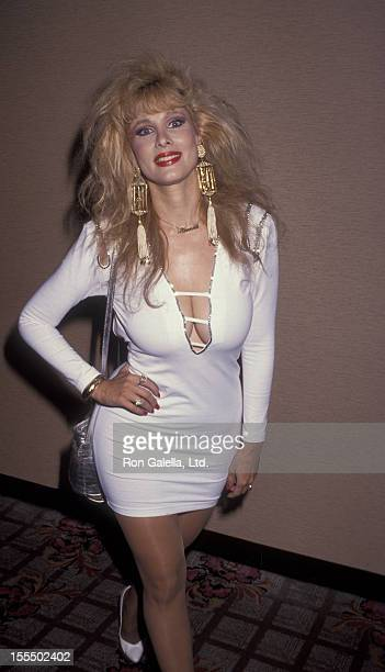 Actress Rhonda Shear attends 36th Annual Thalians Ball on October 26 1991 at the Century Plaza Hotel in Century City California
