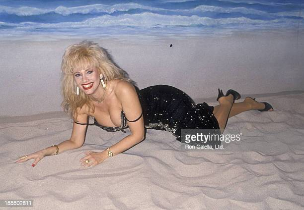 Actress Rhonda Shear attends a photo session on November 17 1994 at Production Group Studios in Hollywood California
