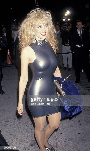 Actress Rhonda Shear attends Eighth Annual American Comedy Awards on March 6 1994 at Shrine Auditorium in Los Angeles California