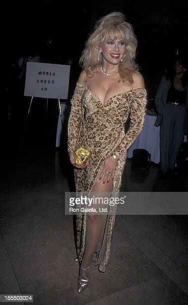 Actress Rhonda Shear attends Fifth Annual Friends of Sheba Medical Center Humanitarian Awards on January 27 1996 at the Beverly Hilton Hotel in...