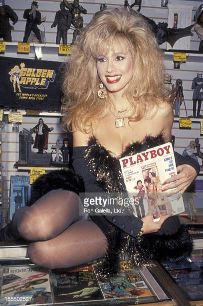Actress Rhonda Shear attends publicity signing of Up All Night on September 17 1993 at Golden Apple Comics in West Hollywood California