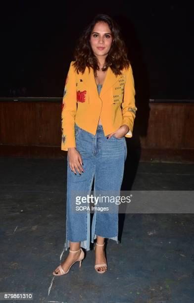 Actress Richa Chadda spotted promoting the film Fukrey Returns at Mehboob studios Bandra in Mumbai