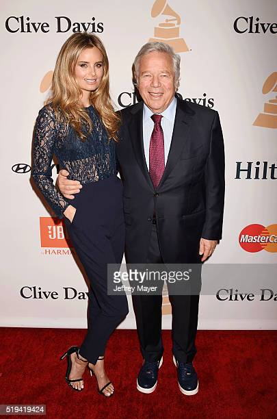 Actress Ricki Noel Lander and New England Patriots Owner and CEO Robert Kraft attend the 2016 PreGRAMMY Gala and Salute to Industry Icons honoring...