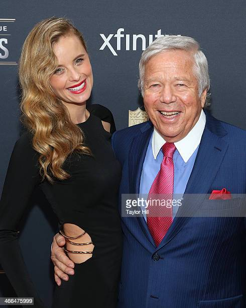 Actress Ricki Noel Lander and New England Patriots owner Robert Kraft attend the 3rd Annual NFL Honors at Radio City Music Hall on February 1 2014 in...