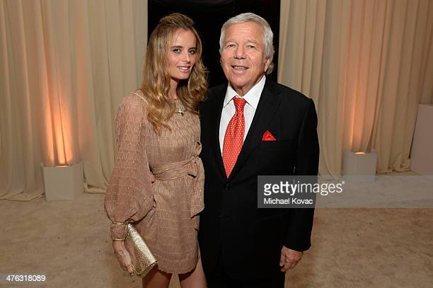 Actress Ricki Noel Lander and New England Patriots Owner Robert Kraft attend the 22nd Annual Elton John AIDS Foundation Academy Awards Viewing Party...