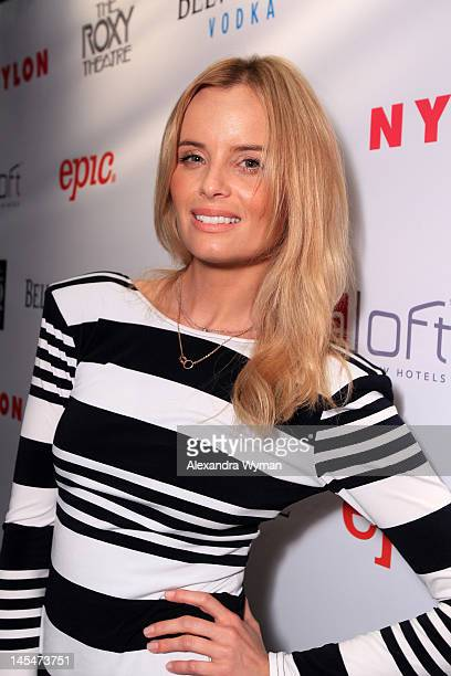 Actress Ricki Noel Lander attends NYLON and Garbage Celebrate the Annual June/July Music Issue held at The Roxy Theatre on May 30 2012 in West...