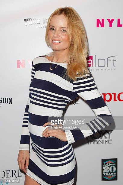 Actress Ricki Noel Lander attends the NYLON Magazine Music Issue Launch Party at The Roxy Theatre on May 30 2012 in West Hollywood California