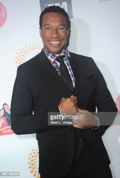 Actress Rico E Anderson at Sai Suman's Official Hollywood Runway Fashion Show held at Sofitel Hotel on April 11 2017 in Los Angeles California