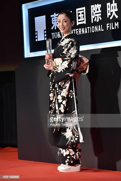 Actress Rie Miyazawa attends the closing ceremony of the 27th Tokyo International Film Festival at Roppongi Hills on October 31, 2014 in Tokyo, Japan.