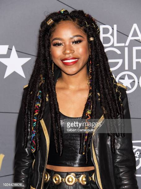 Actress Riele Downs attends 2018 Black Girls Rock at New Jersey Performing Arts Center on August 26 2018 in Newark New Jersey