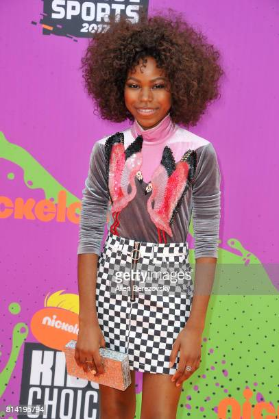 Actress Riele Downs attends Nickelodeon Kids' Choice Sports Awards 2017 at Pauley Pavilion on July 13 2017 in Los Angeles California