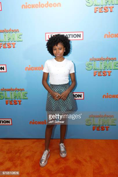 Actress Riele Downs attends Nickelodeon SlimeFest at Huntington Bank Pavilion at Northerly Island on June 9 2018 in Chicago Illinois