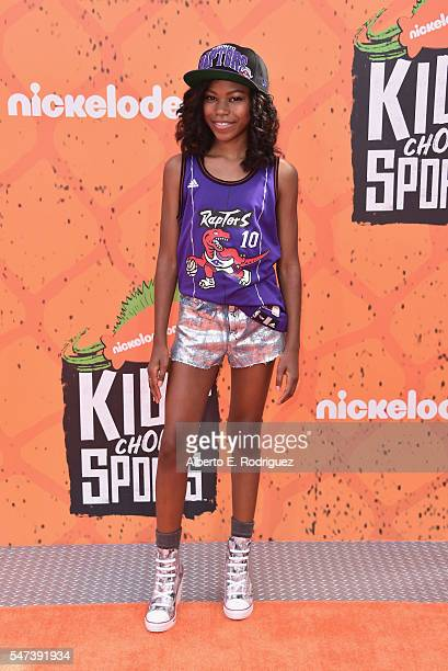 Actress Riele Downs attends the Nickelodeon Kids' Choice Sports Awards 2016 at UCLA's Pauley Pavilion on July 14 2016 in Westwood California
