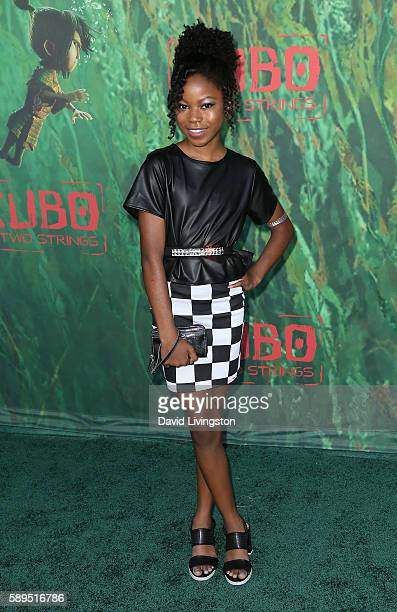 Actress Riele Downs attends the premiere of Focus Features' Kubo and the Two Strings at AMC Universal City Walk on August 14 2016 in Universal City...