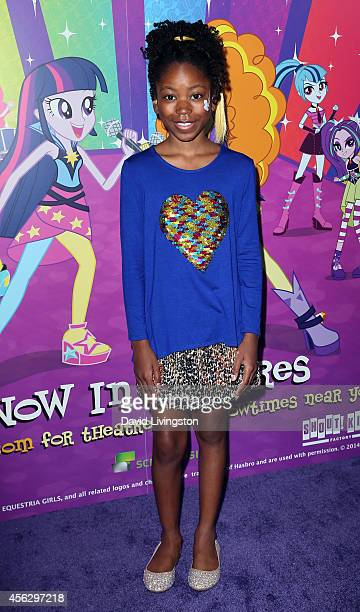 Actress Riele Downs attends the premiere of Hasbro Studios' 'My Little Pony Equestria Girls Rainbow Rocks' at the TCL Chinese 6 Theatres on September...