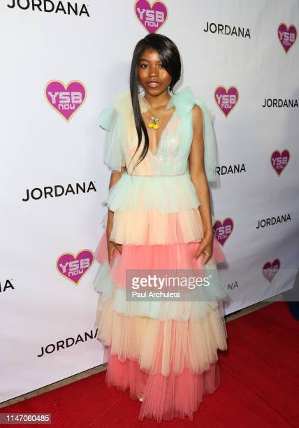 Actress Riele Downs attends the Young Hollywood Prom hosted by YSBnow and Jordana Cosmetics on May 04 2019 in Los Angeles California