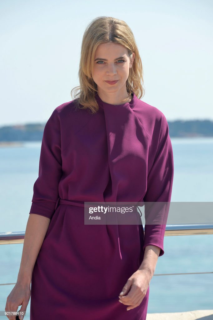 Actress Rike Schmid posing for a photocall on the occasion of the MipTV, International Television Programme Market, in Cannes (south-eastern France) on .