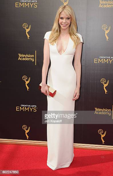 Actress Riki Lindhome arrives at the 2016 Creative Arts Emmy Awards at Microsoft Theater on September 10 2016 in Los Angeles California
