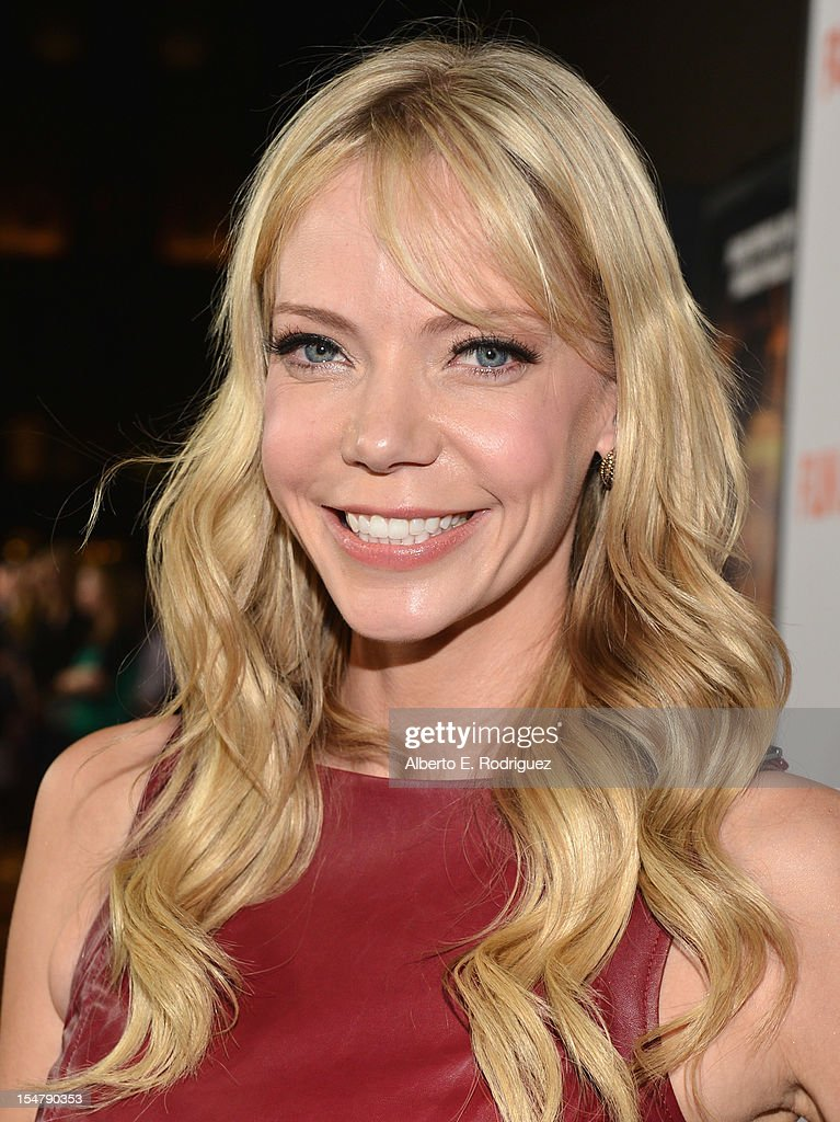 Actress Riki Lindhome arrives to the premiere of Paramount Pictures' 'Fun Size' at Paramount Theater on the Paramount Studios lot on October 25, 2012 in Hollywood, California.