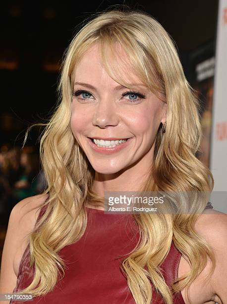 Actress Riki Lindhome arrives to the premiere of Paramount Pictures' Fun Size at Paramount Theater on the Paramount Studios lot on October 25 2012 in...