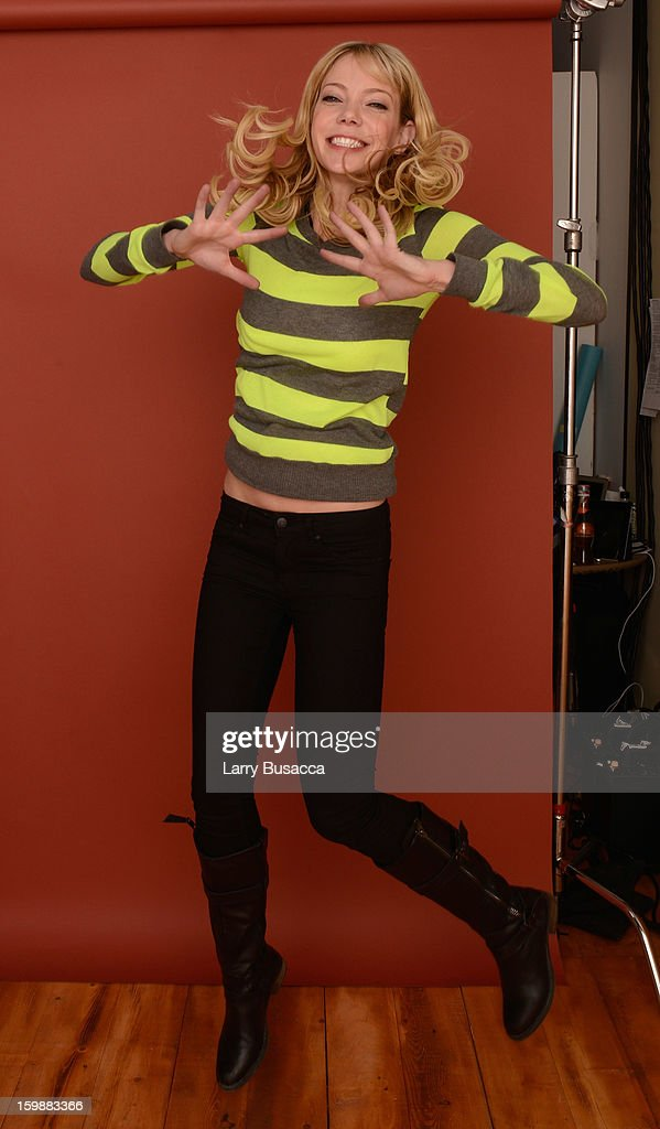 Actress Riki Lindhome poses for a portrait during the 2013 Sundance Film Festival at the Getty Images Portrait Studio at Village at the Lift on January 21, 2013 in Park City, Utah.