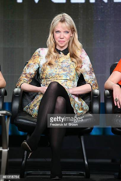 Actress Riki Lindhome speaks onstage during the 'Another Period ' panel at the Comedy Central portion of the 2015 Winter Television Critics...