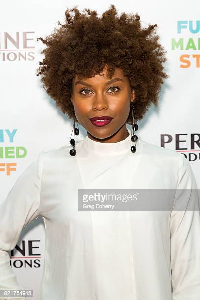 Actress Rikki Dee arrives for the Screening Of Perrine Productions' 'Funny Married Stuff' at the ACME Comedy Theatre on November 7 2016 in Los...