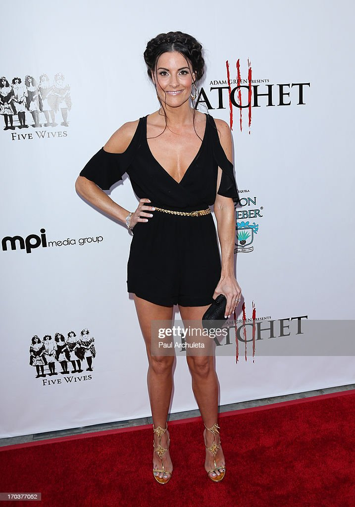 Actress Rileah Vanderbilt attends the 'Hatchet II' premiere at the American Cinematheque's Egyptian Theatre on June 11, 2013 in Hollywood, California.