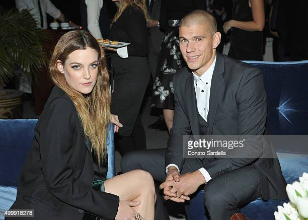 Actress Riley Keough and Ben Smith attend GQ And Dior Homme Private Dinner In Celebration Of GQ's 20th Anniversary Men Of The Year Party at Chateau...