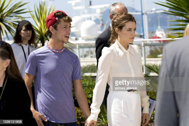 Actress Riley Keough and Raymond Coalson attend the photocall of 'American Honey' during the 69th Annual Cannes Film Festival at Palais des Festivals...