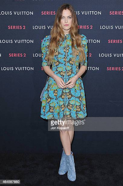Actress Riley Keough arrives at Louis Vuitton 'Series 2' The Exhibition on February 5 2015 in Hollywood California