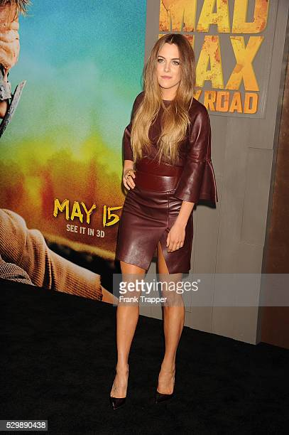 """Actress Riley Keough arrives at the premiere of """"Mad Max: Fury Road"""" held at the TCL Chinese Theater in Hollywood."""