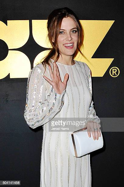 Actress Riley Keough arrives at the STARZ PreGolden Globe Celebration at Chateau Marmont on January 8 2016 in Los Angeles California