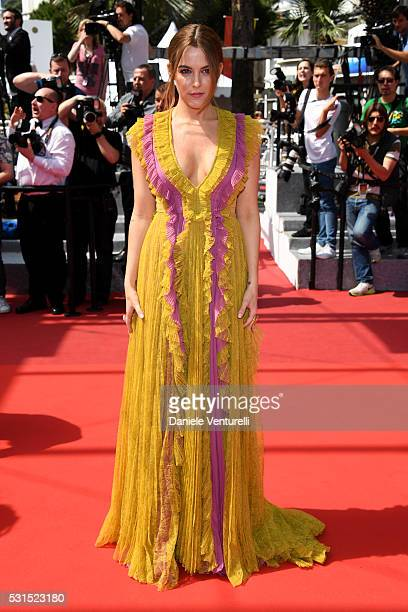 Actress Riley Keough attends the American Honey premiere during the 69th annual Cannes Film Festival at the Palais des Festivals on May 15 2016 in...