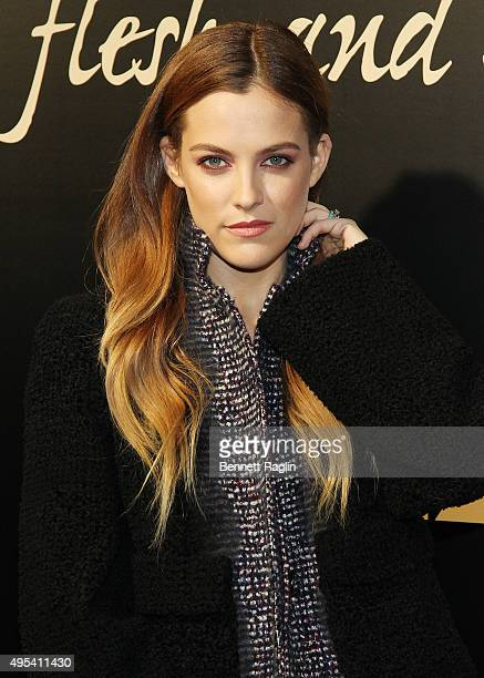 Actress Riley Keough attends the 'Flesh And Bone' New York limited series premiere at Jack H Skirball Center for the Performing Arts on November 2...