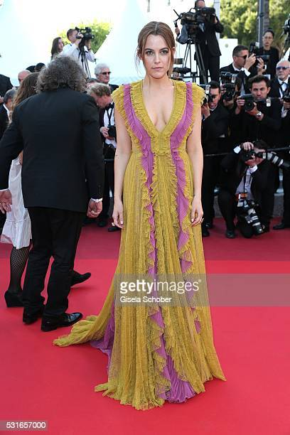 Actress Riley Keough leaves the American Honey premiere during the 69th annual Cannes Film Festival at the Palais des Festivals on May 15 2016 in...