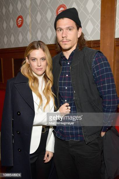 Actress Riley Keough of The Lodge and stuntman Ben SmithPetersen attend the Pizza Hut Lounge at the 2019 Sundance Film Festival in Park City UT