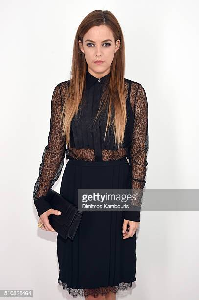 Actress Riley Keough poses backstage the Michael Kors Fall 2016 Runway Show during New York Fashion Week The Shows at Spring Studios on February 17...