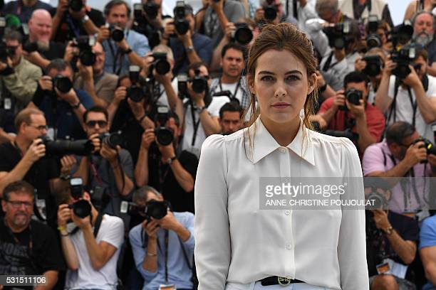 US actress Riley Keough poses on May 15 2016 during a photocall for the film 'American Honey' at the 69th Cannes Film Festival in Cannes southern...