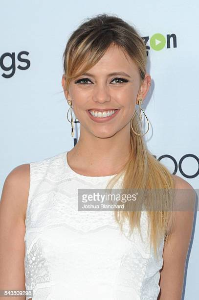 Actress Riley Voelkel arrives at Sony Pictures Television Social Soiree featuring Amazon Pilots The Last Tycoon and The Interestings at Sony Pictures...