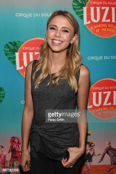 Actress Riley Voelkel attends Atlanta Premiere of Cirque du Soleil's 'LUZIA A Waking Dream of Mexico' at Big Top at Atlantic Station on September 14...