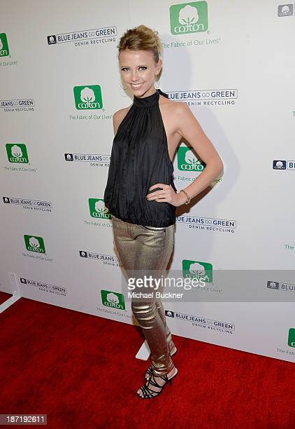 Actress Riley Voelkel attends Cotton Incorporated's Blue Jeans Go Green celebrates 1 million pieces of denim collected for recycling at SkyBar at the...