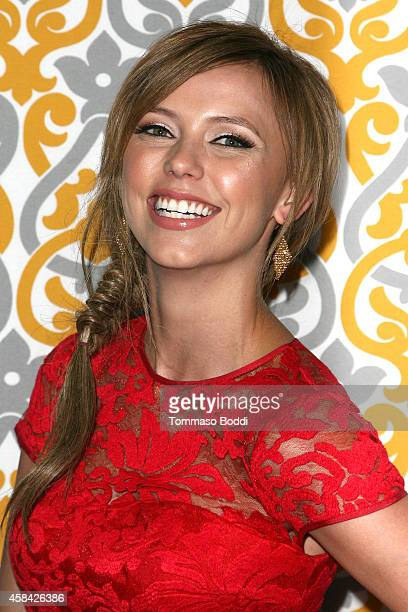 Actress Riley Voelkel attends the Los Angeles season 3 premiere of HBO's series The Newsroom held at the DGA Theater on November 4 2014 in Los...