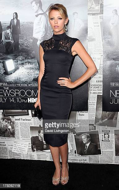 Actress Riley Voelkel attends the premiere of HBO's 'The Newsroom' Season 2 at the Paramount Theater on the Paramount Studios lot on July 10 2013 in...