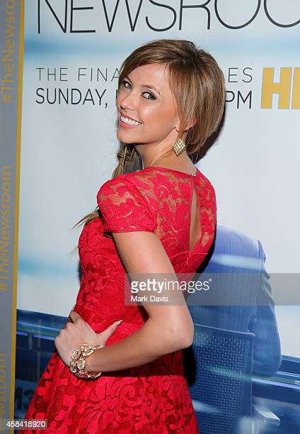 Actress Riley Voelkel attends the Premiere of HBO's 'The Newsroom' Season 3 at Directors Guild Of America on November 4 2014 in Los Angeles California
