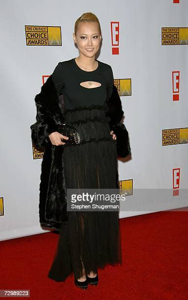 Actress Rinko Kikuchi arrives at the 12th Annual Critics' Choice Awards held at the Santa Monica Civic Auditorium on January 12, 2007 in Santa...