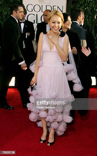 Actress Rinko Kikuchi arrives at the 64th Annual Golden Globe Awards at the Beverly Hilton on January 15, 2007 in Beverly Hills, California.