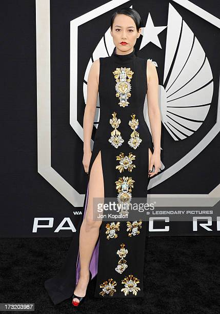 Actress Rinko Kikuchi arrives at the Los Angeles Premiere 'Pacific Rim' at Dolby Theatre on July 9 2013 in Hollywood California